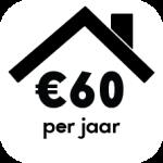 click 60 euro per jaar