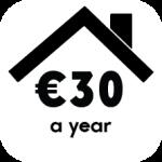 click 30 euro per year