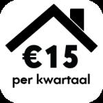 click 15 euro per kwartaal
