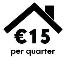 click 15 euro per quarter