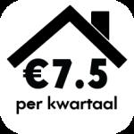 click 7,5 euro per kwartaal