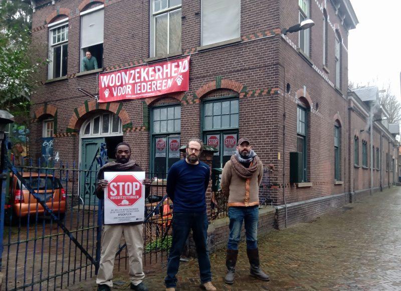 Bewoners Vliertstraat (Den Bosch) in actie tegen huisuitzetting